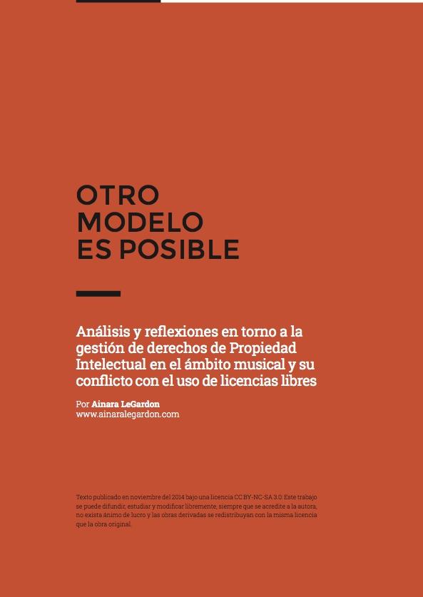 """Portada """"Otro modelo es posible"""" por Ainara LeGardon"""